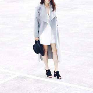 Belted Shawl Collar Coat From Boohoo (PENDING)