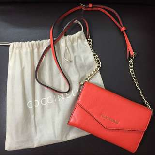 Coccinelle - Wallet On Chain/Minibag In Scarlet