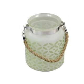 Frosted Lantern- Green