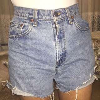 Vintage Cut Off Levi Denim Shorts Size 6-8