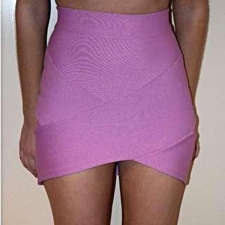 Lilac Bandage Skirt