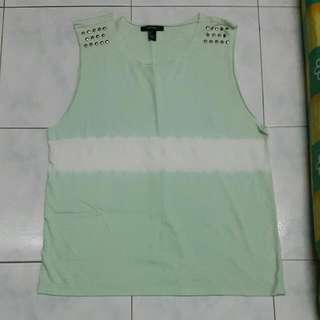 FOREVER 21 Mint Green Muscle Tank Top