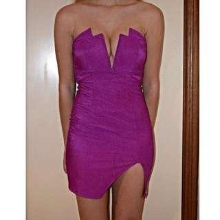 Stunning Bright Purple Party Dress
