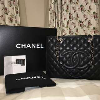 Authentic Chanel GST Grand Shopping Tote SWH