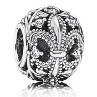 PANDORA Authentic Silver Sterling Fleur De Lis Charm