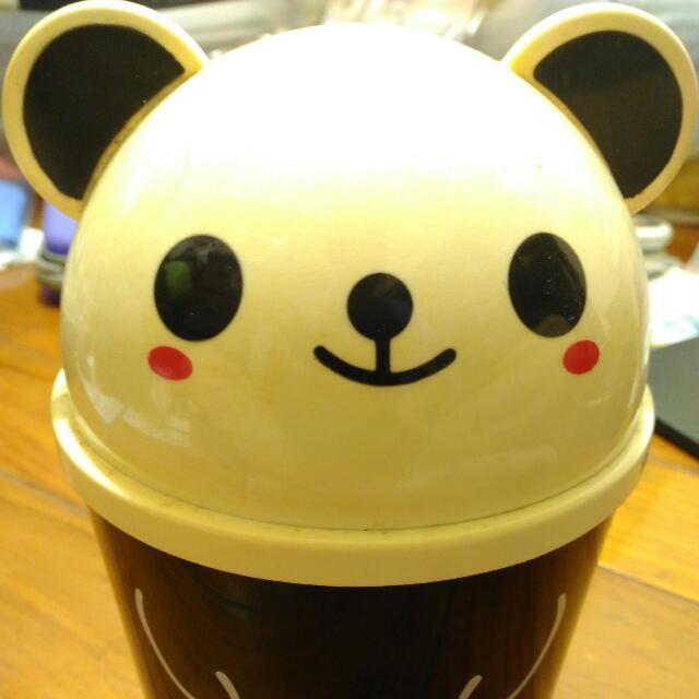 可愛熊貓 桌上型垃圾桶 Cute Panda Desktop Trash