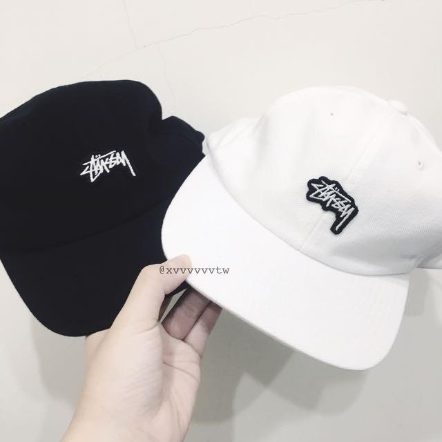 [現貨] Stussy 帽 老帽 棒球帽 黑/白
