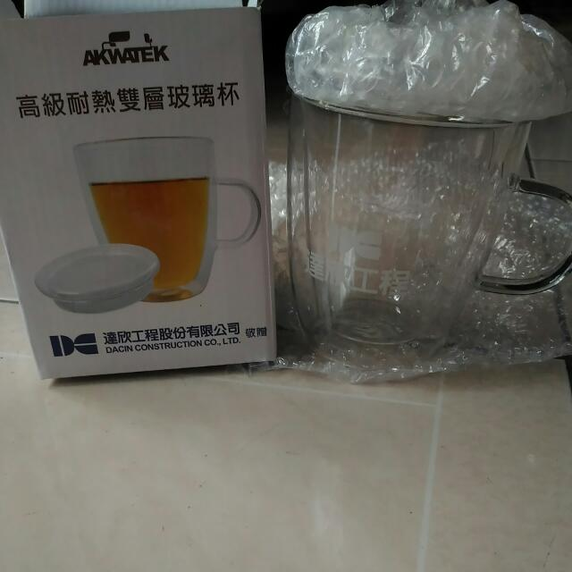 AKWATEK高級耐熱雙層玻璃杯