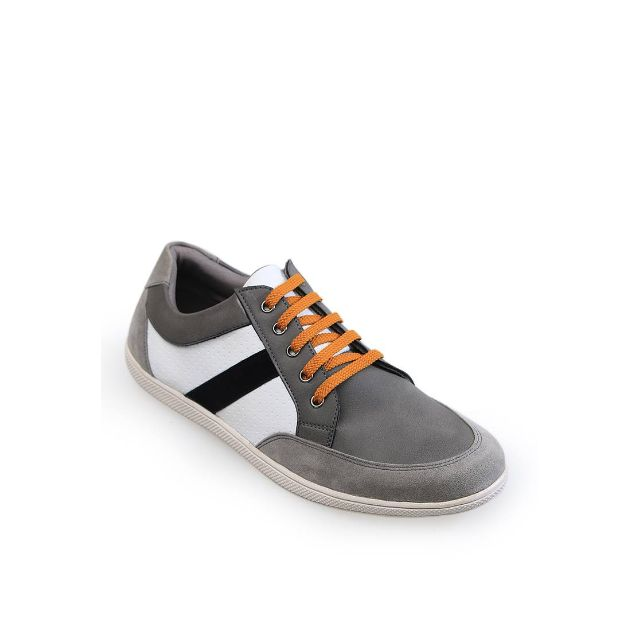 Alhena Grey Strip Sneakers Shoes