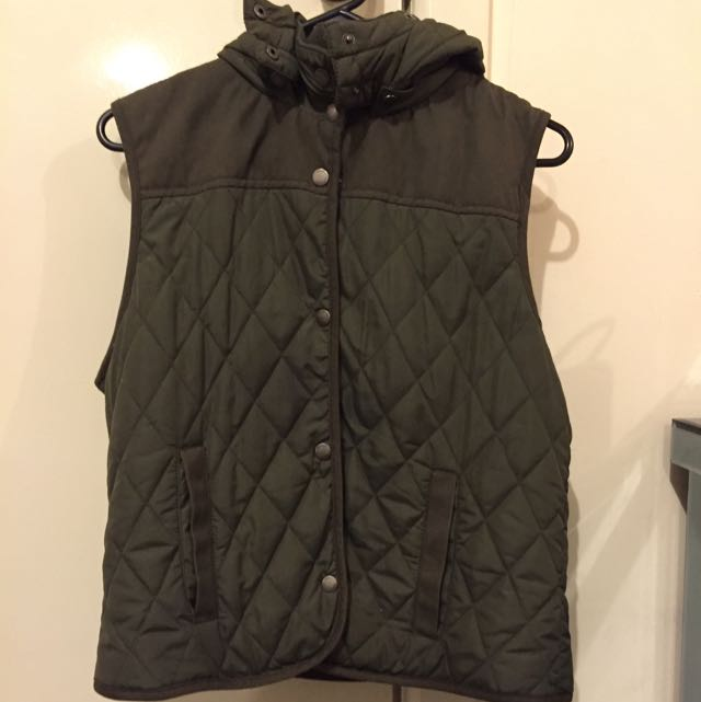 All About Eve Khaki Puffer Vest