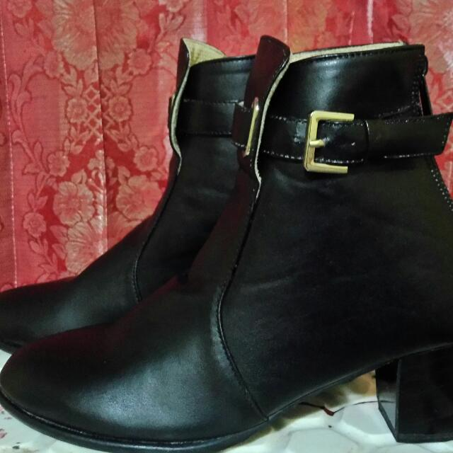 Ankle Black Boots Shoes