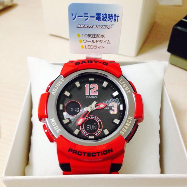 日本限量baby G 太陽能手錶
