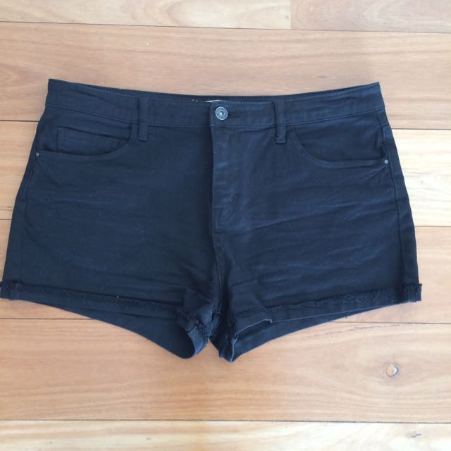 Black Denim Country Road Shorts