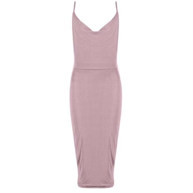 Boohoo Cowl Front Dress Size 8