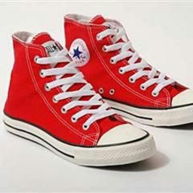 正版Converse 紅色高筒