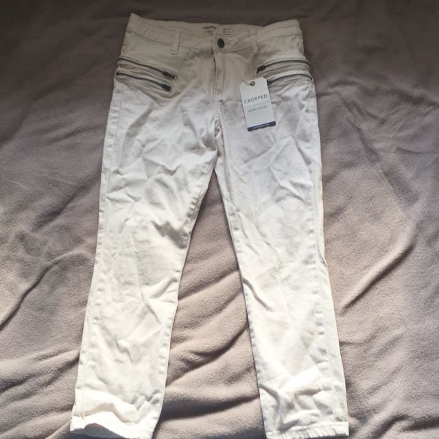 COTTON ON: Cropped Mid Rise/ Fitted Leg Jeans