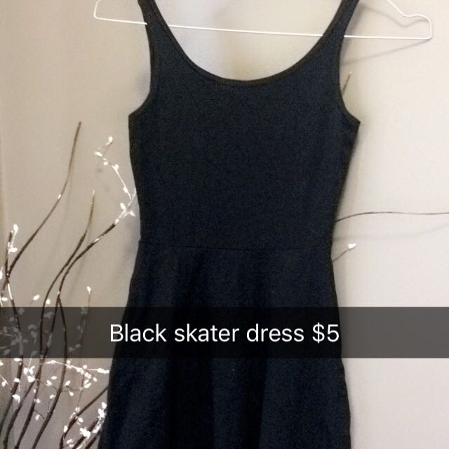 Cute Black Skater Dress