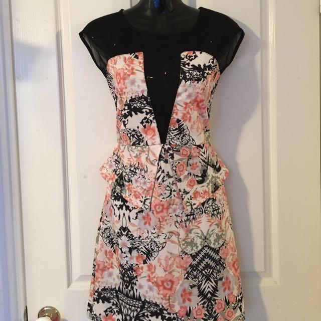 Dress W/ Sheer Upper
