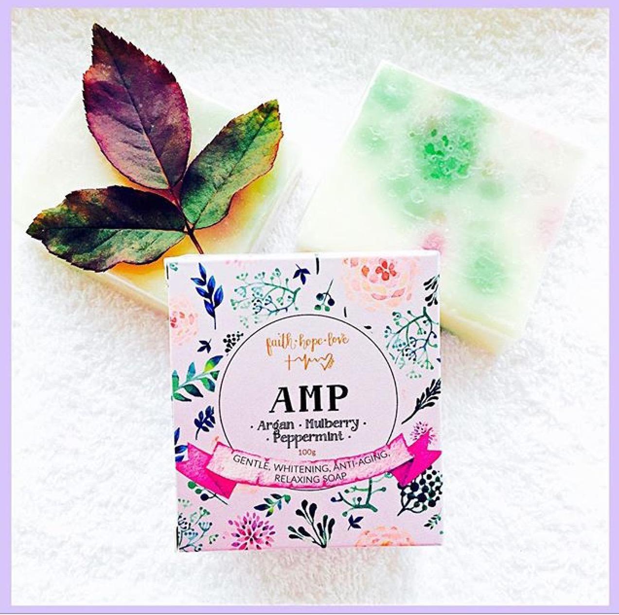 FaithHopeLove AMP soap (Argan Mulberry Peppermint) pure vegan glycerin soap
