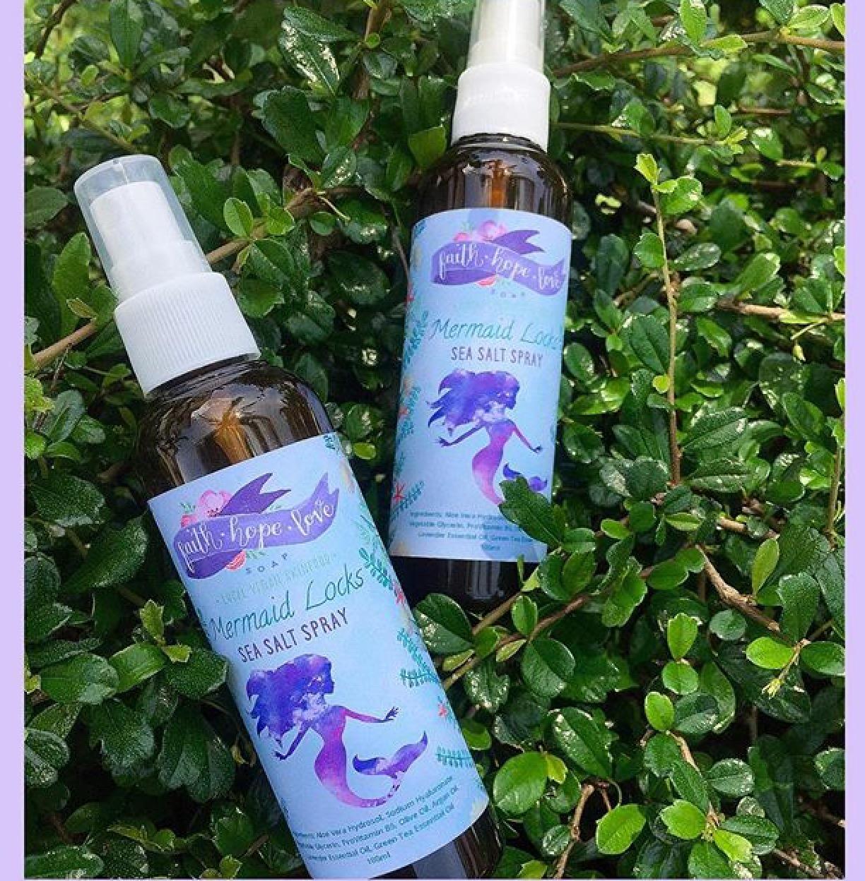 FaithHopeLove Local Vegan Skinfood Mermaid Locks Sea Salt Hairspray