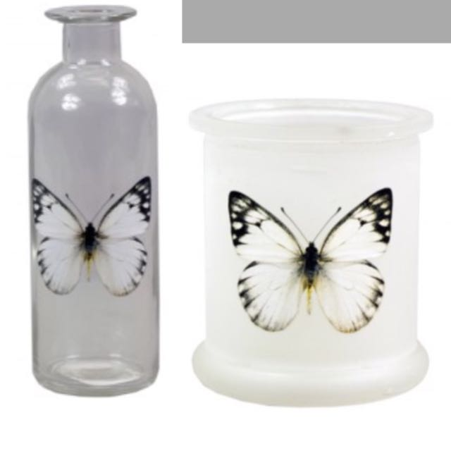 Glass Butterfly Set