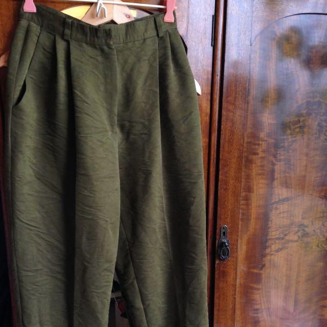 Green Vintage Pants