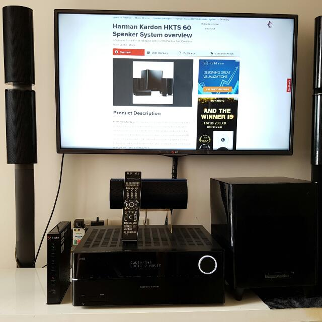 Verrassend Harman-Kardon AVR 370 & HKTS 60 5.1 Speaker System Home Cinema FN-32
