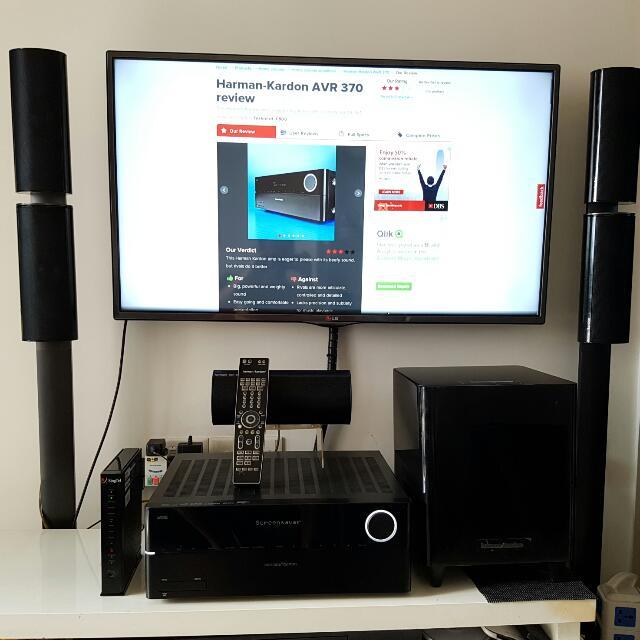 harman kardon avr 370 hkts 60 5 1 speaker system home. Black Bedroom Furniture Sets. Home Design Ideas