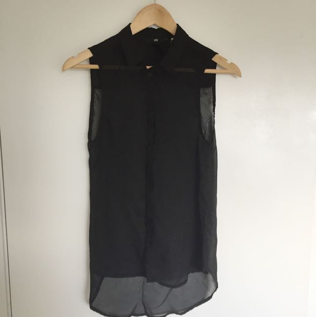 H&M Sheer Button Up