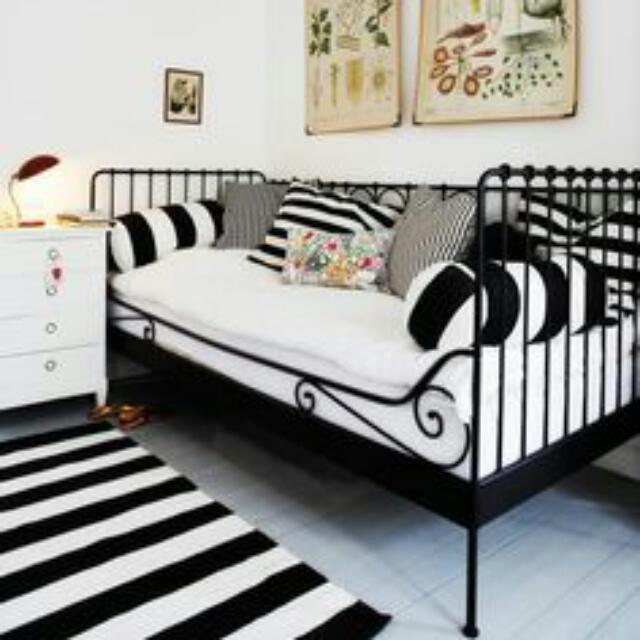 Ikea Wrought Iron Daybed+ikea mattress