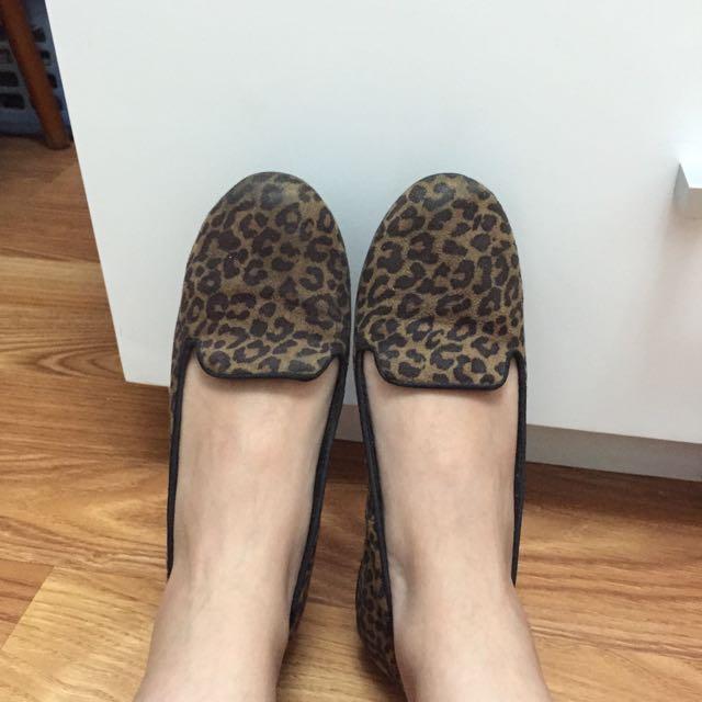 Leopard Pattern Flats Shoes