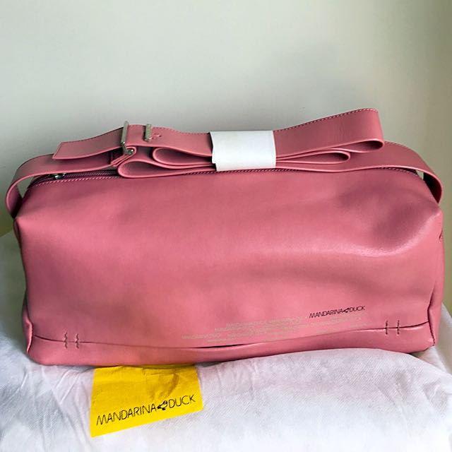 Mandarina Duck dusty pink shoulder bag