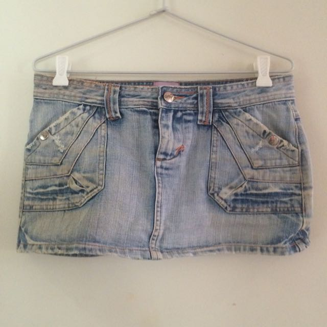 Medium MinkDenim Skirt