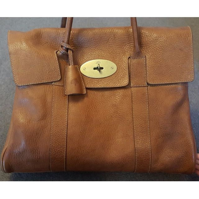 MULBERRY 'BAYSWATER' Oak Natural Leather with Brass