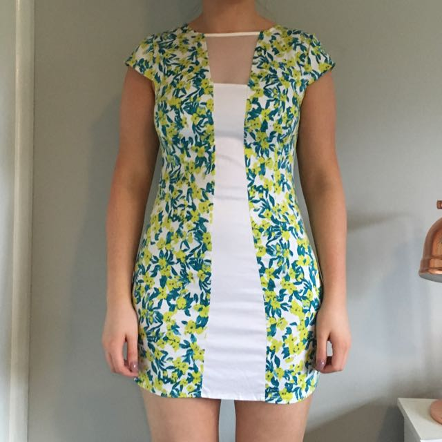 Patterned Body Con Dress Size 10