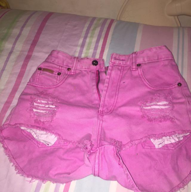 pink refuge short shorts