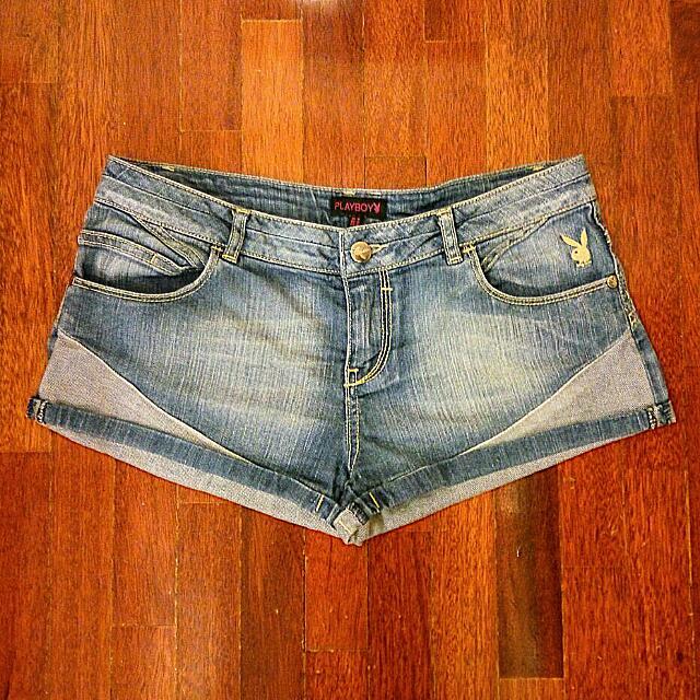 🐰PLAYBOY🐰 Denim Low Waist Shorts