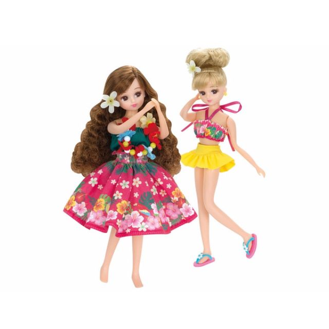 [Pre-order] Takara Licca Doll Hula Girls & Swimsuit Set