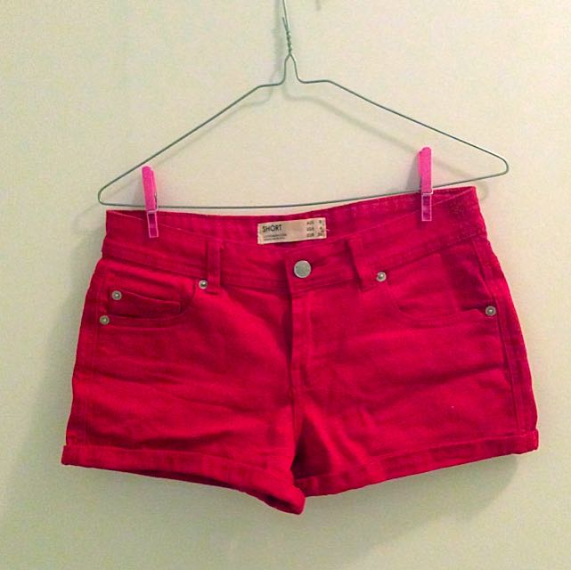 Red Mini Shorts