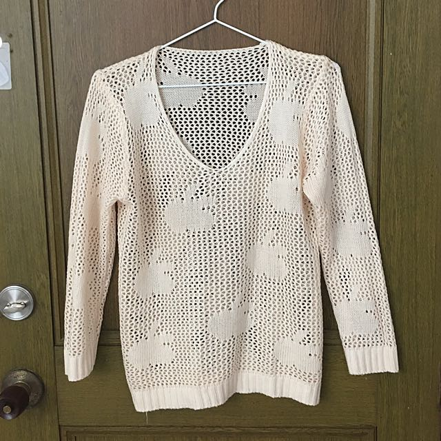 See Through Knitted Pull Over