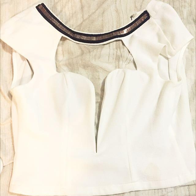 Size 8 Midriff Paradisco Low Cut Shirt