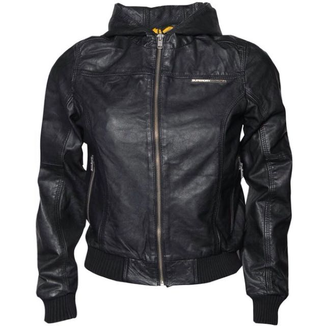 Womens Superdry Leather Hood
