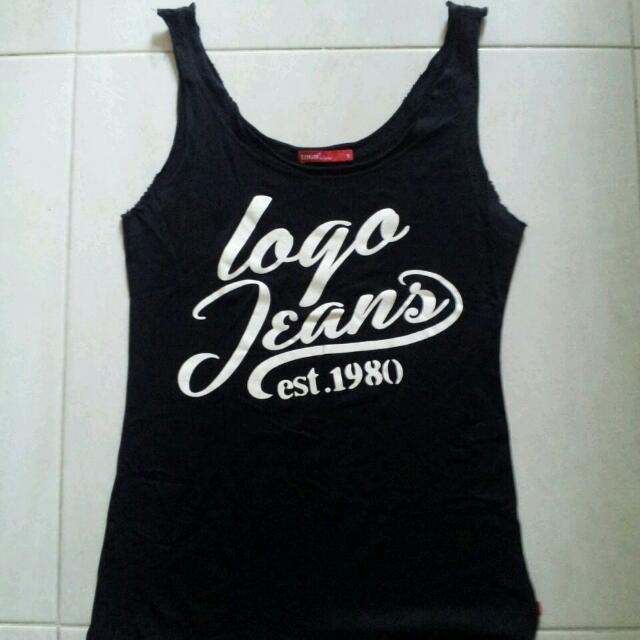 Tank Top Logo Jeans Size S
