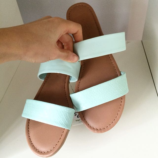 Target Collection Mint Sandals Size 6