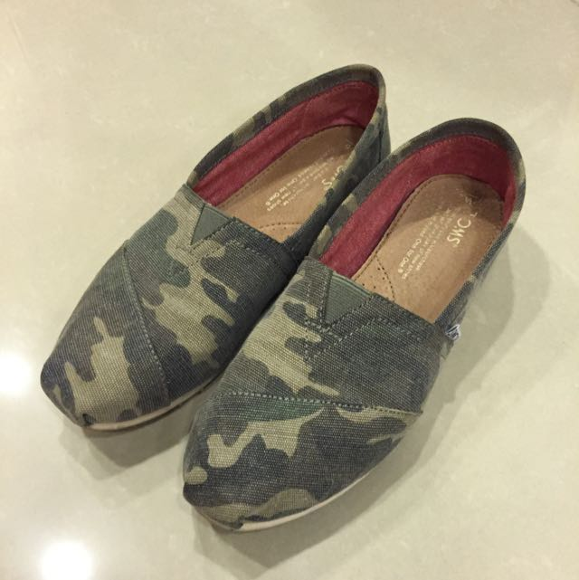 正Toms迷彩便鞋