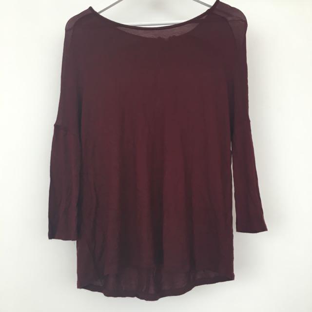 Zara Maroon Light Sweater