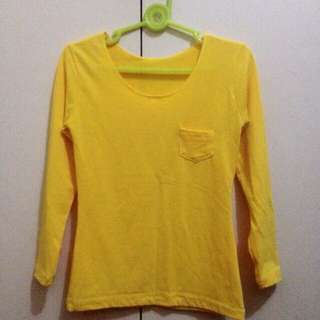 Yellow Longsleeves Top