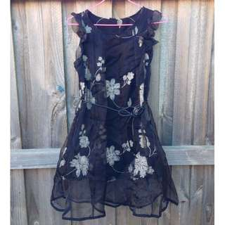 Little Black Dress (embroidery flower patterns)