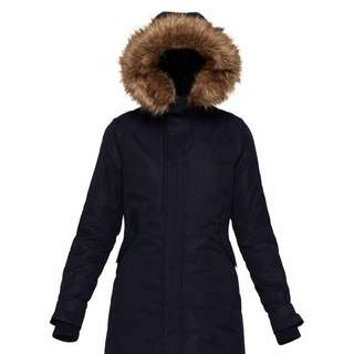 BLACK TNA COAT SMALL