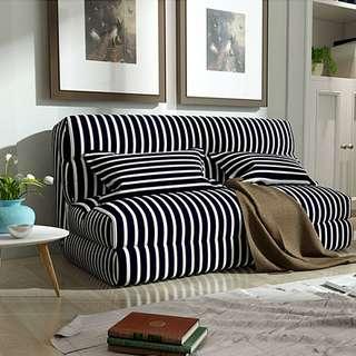 PO Nordic/ Scandinavian Multifunctional Tatami Foldable Fabric Sofa Bed - Multi Colours
